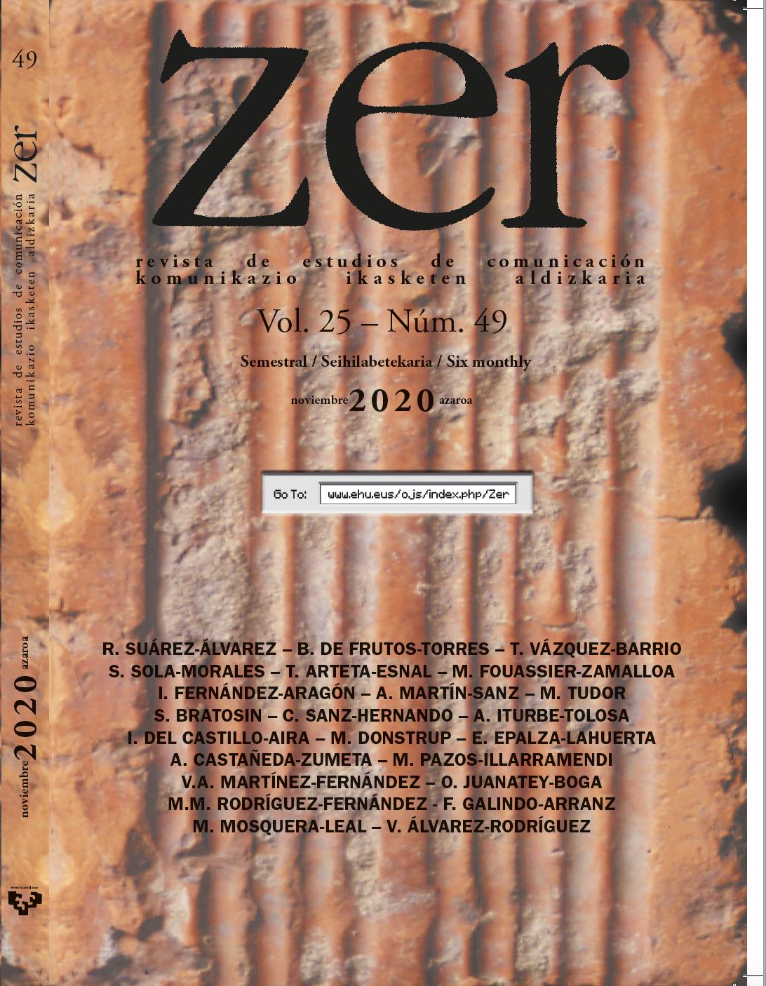 Imagen de la portada del número 49 de la revista ZER