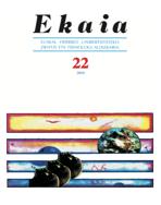 EKAIA Euskal Herriko Unibertsitateko zientzi eta teknologi aldizkariaren 2009ko zenbakia