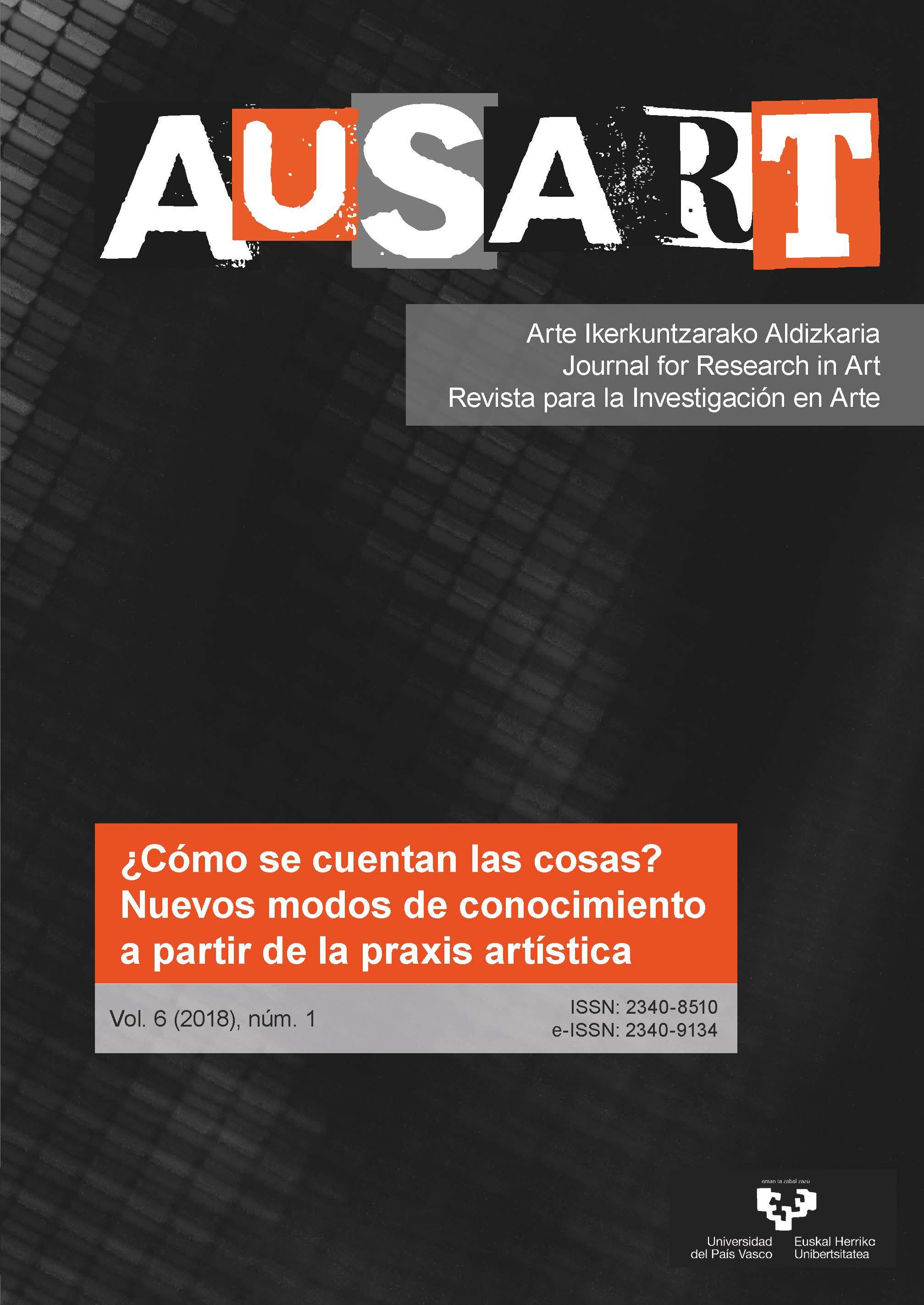 Portada AusArt vol. 6, número 1 (2018)