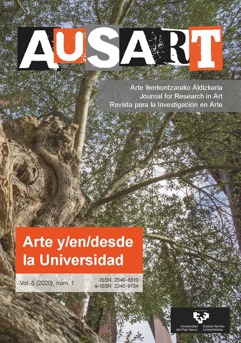 Portada AusArt vol. 8, número 1 (2020)