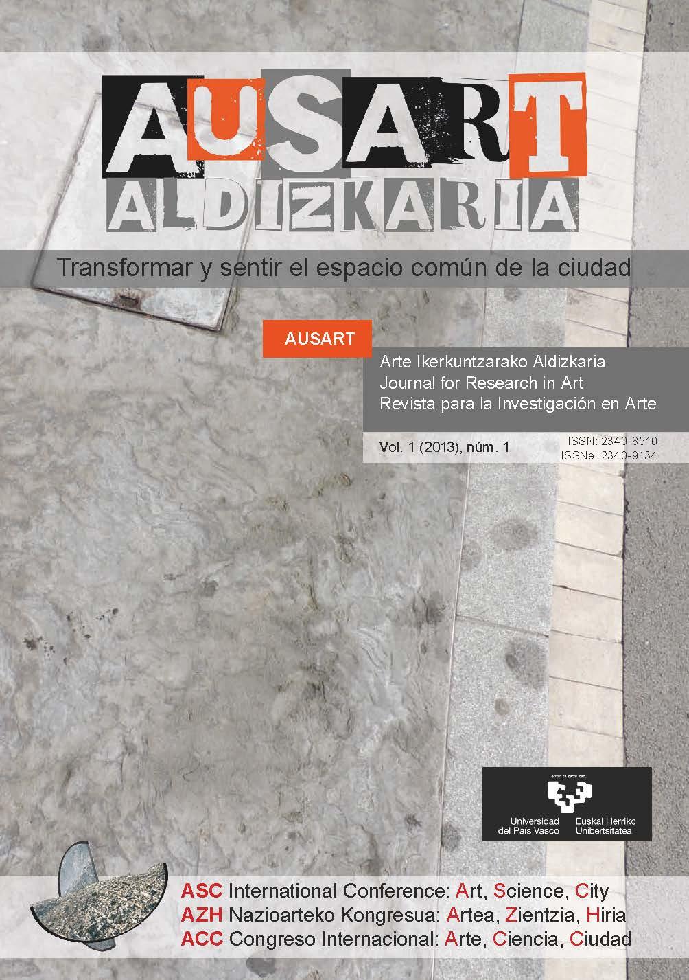 Portada AusArt vol. 1, número 1 (2013)